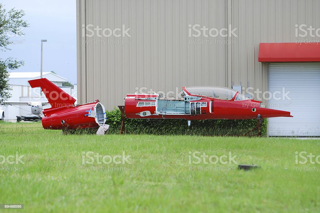 Broken up jet airplane royalty-free stock photo