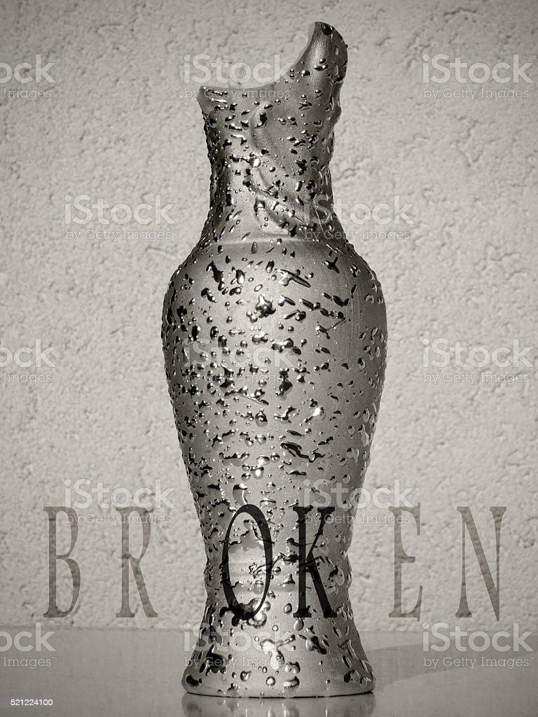 Broken vase as motivational metaphor stock photo
