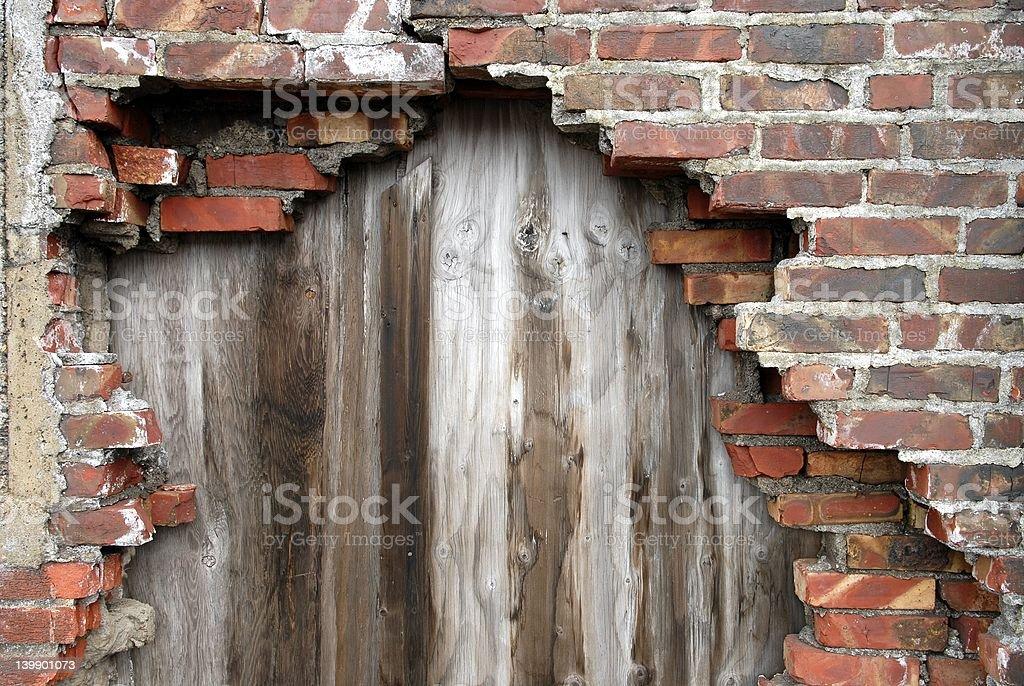 Broken wall royalty-free stock photo