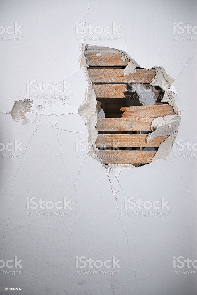 Broken Wall stock photo