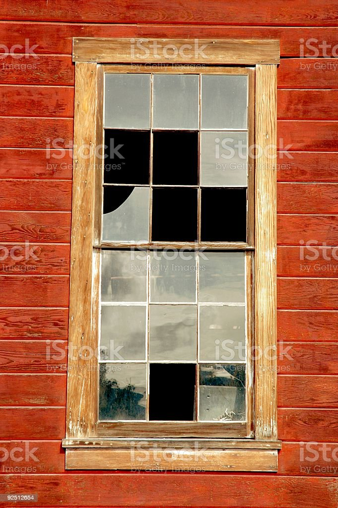 Broken Window Pane royalty-free stock photo