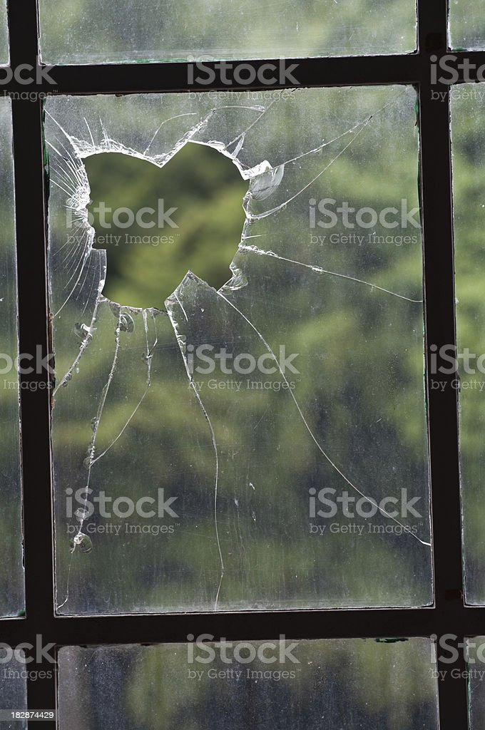 Broken window royalty-free stock photo