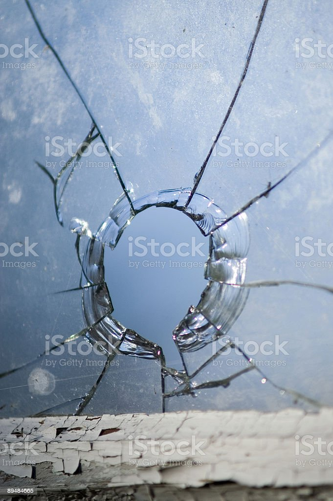 Broken window royalty-free stock photo