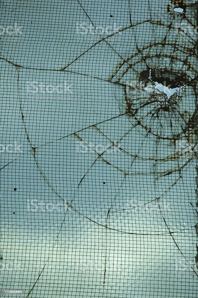 broken windows 3 royalty-free stock photo
