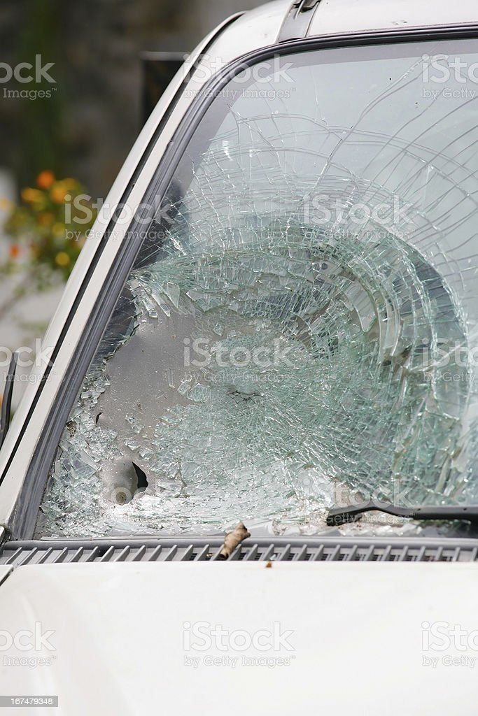 Broken Windshield royalty-free stock photo