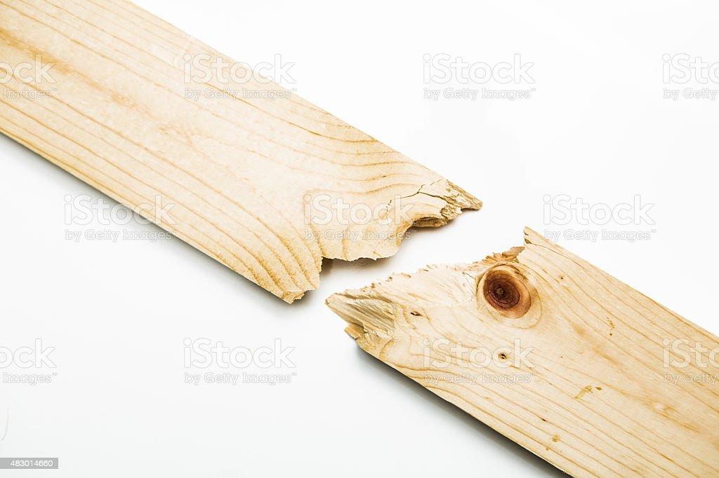 Broken wood plank on white stock photo istock