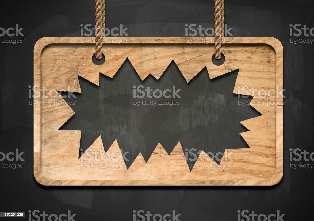 Broken wooden panel / Black board concept (Click for more) stock photo