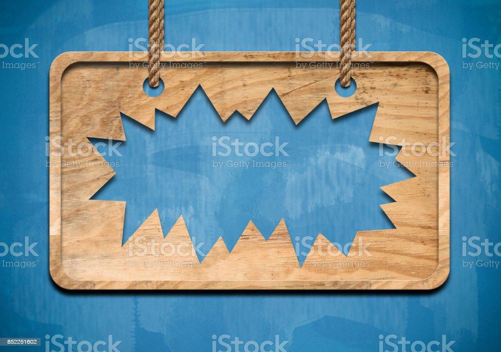 Broken wooden panel / Blue board concept (Click for more) stock photo