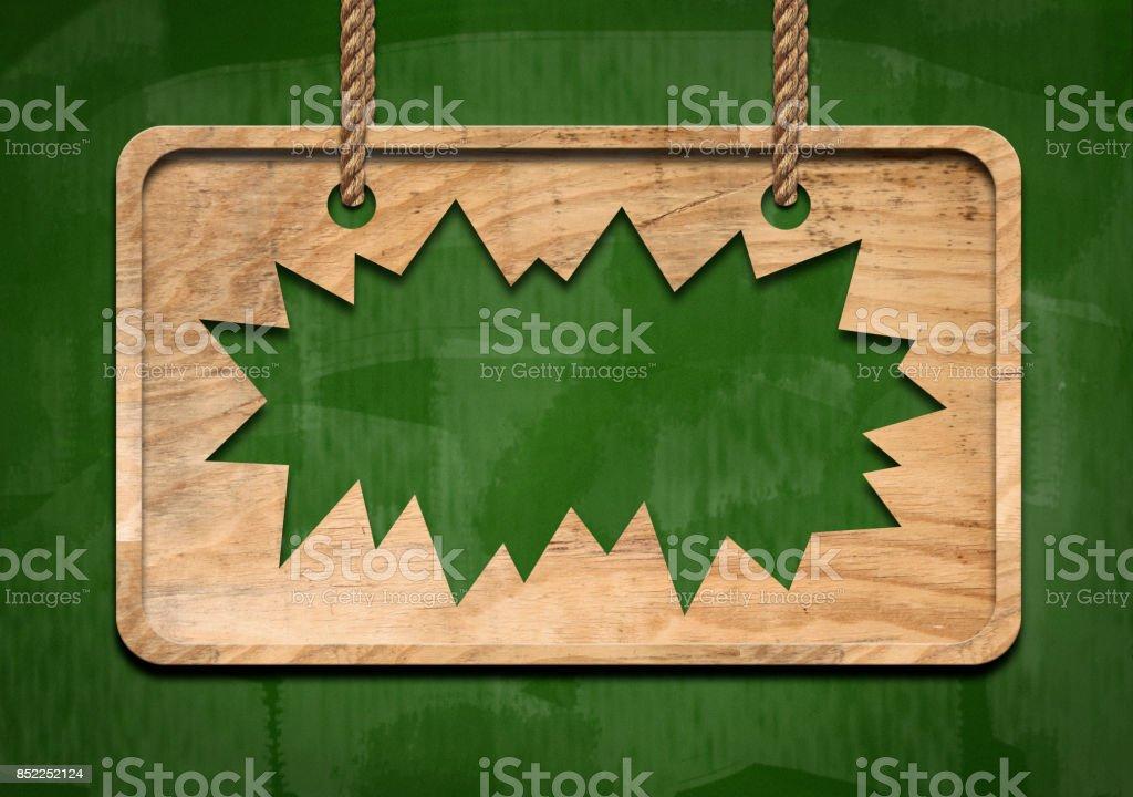 Broken wooden panel / Green board concept (Click for more) stock photo