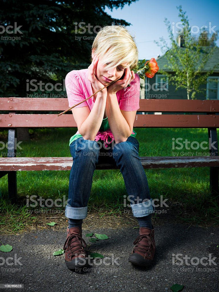 Broken-hearted Teenager royalty-free stock photo