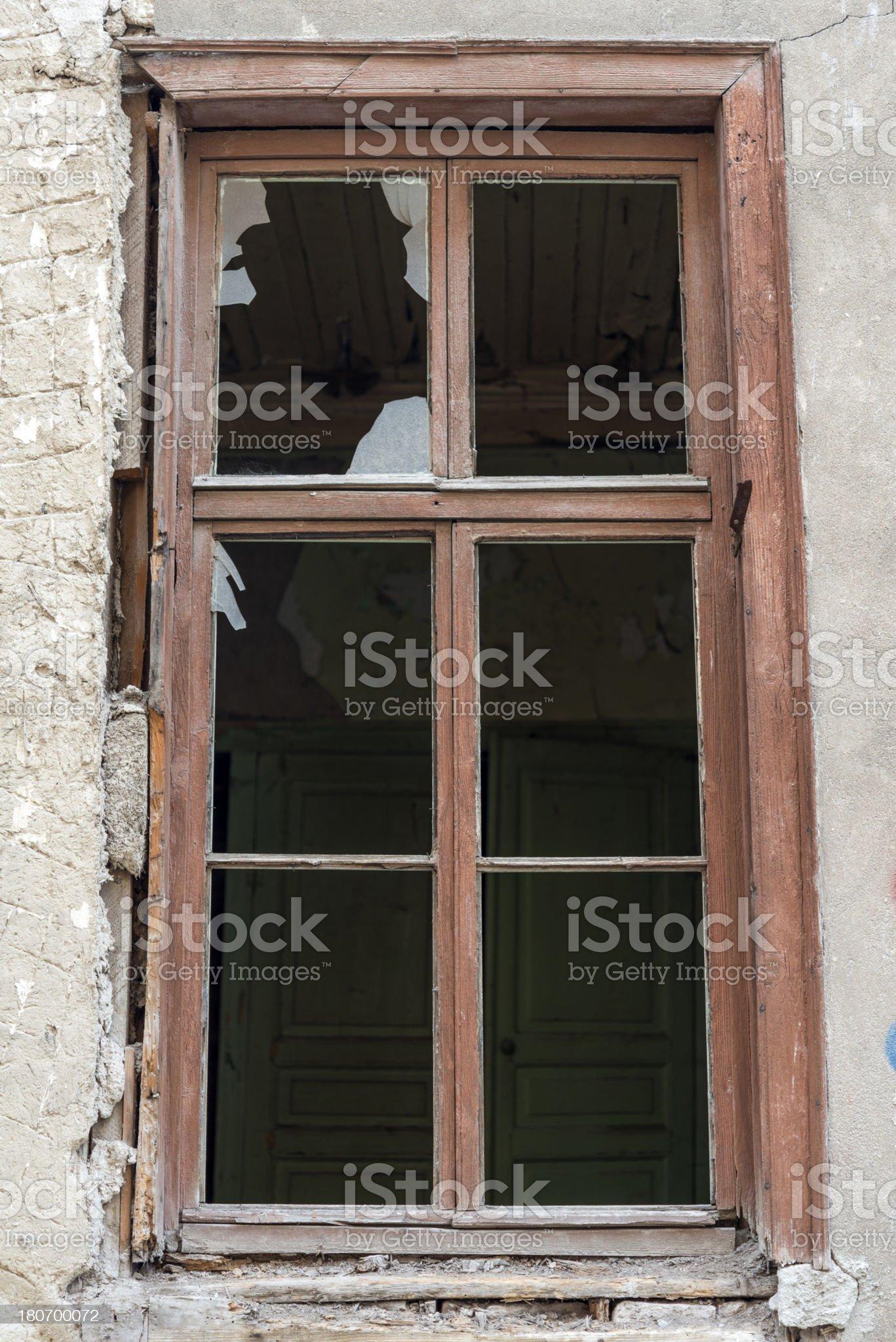Brokenly Window royalty-free stock photo