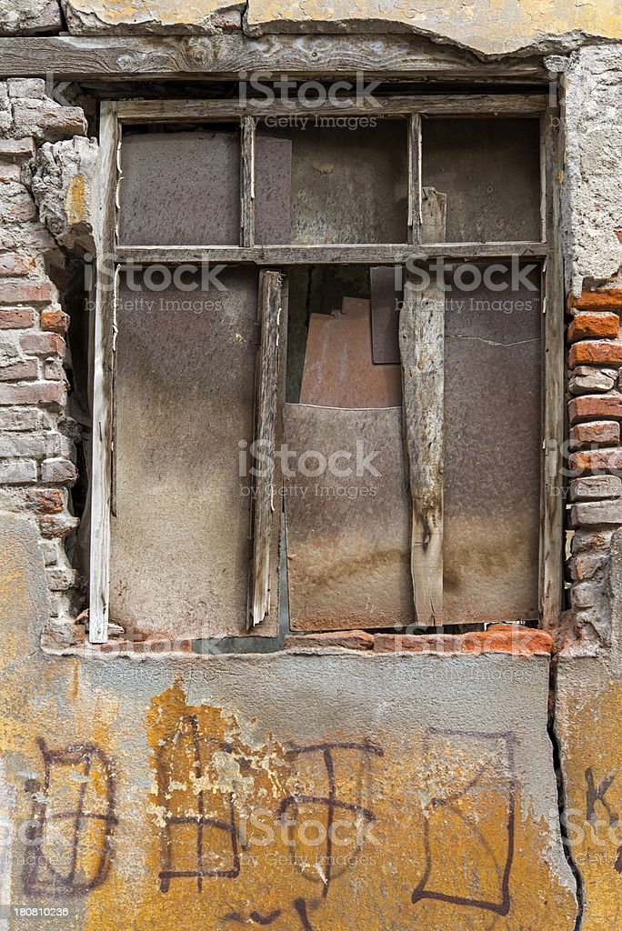 Brokenly Window royalty-free stock photo