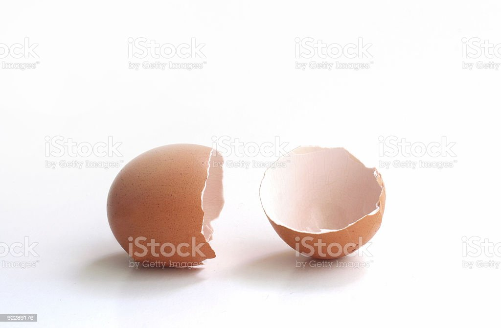 Brokken egg, empty. royalty-free stock photo