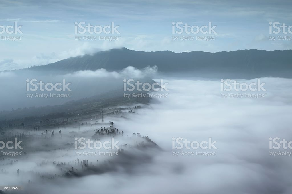 Bromo sunrise stock photo
