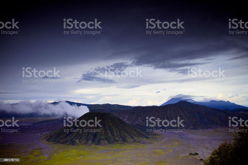 Bromo volcano in Bromo, Indonesia stock photo