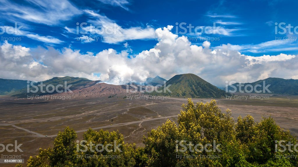 Bromo volcano (Gunung Bromo)in Bromo Tengger Semeru National Park, East Java, Indonesia. stock photo