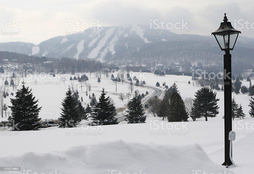 Bromont Ski Mountain royalty-free stock photo