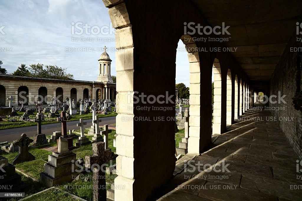 Brompton Cemetery In London stock photo