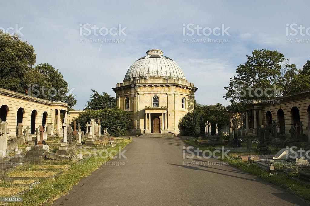 Brompton Cemetery, London stock photo