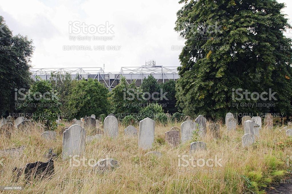 Brompton Cemetery stock photo