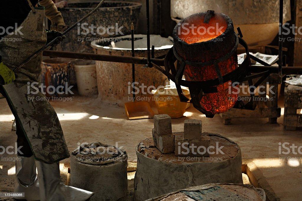 Bronce Foundry - Italy royalty-free stock photo
