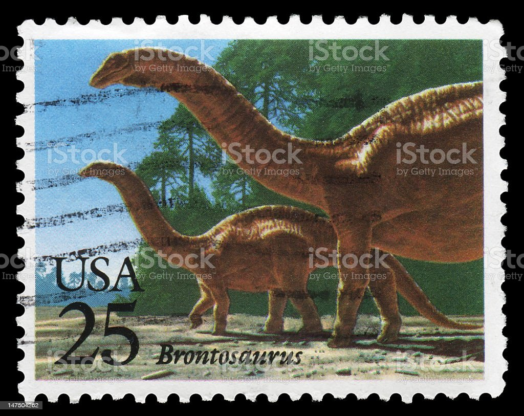 Brontosaurus royalty-free stock photo