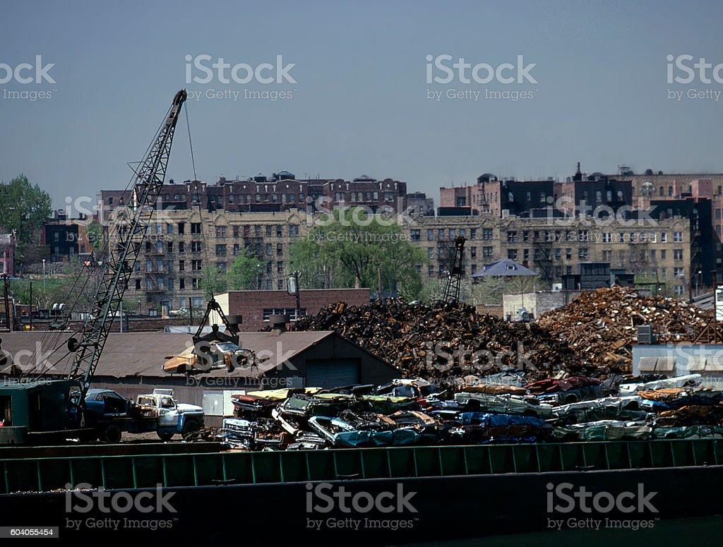 Bronx scrap yard stock photo