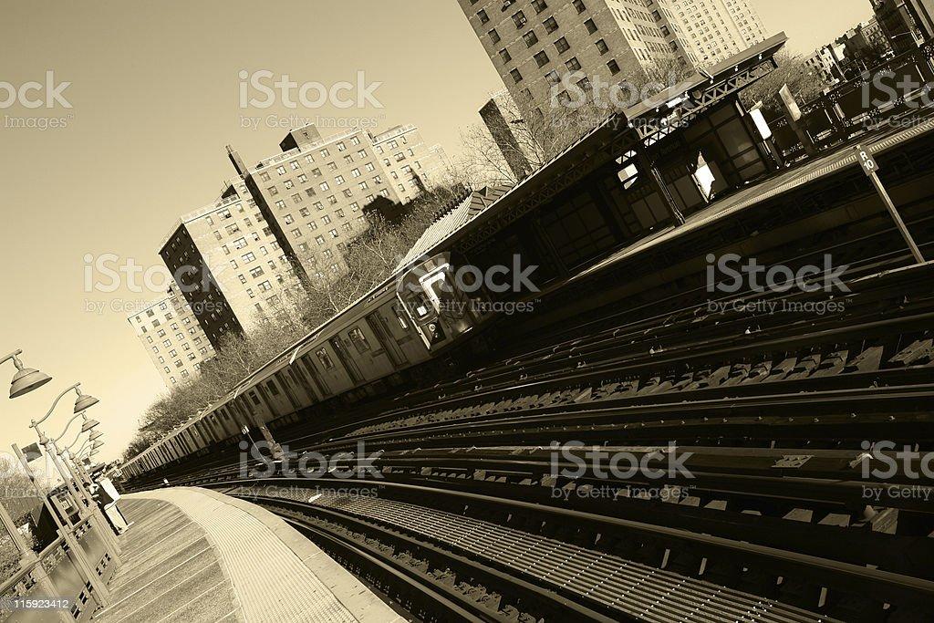 Bronx Subway Station stock photo