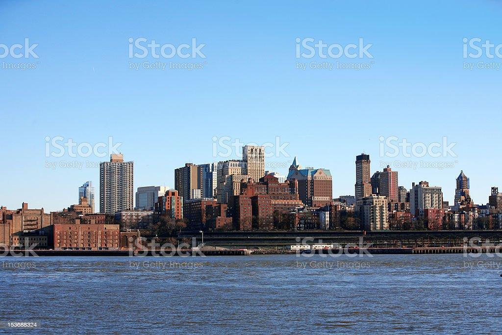 NYC - Bronx, view from Manhattan, USA royalty-free stock photo
