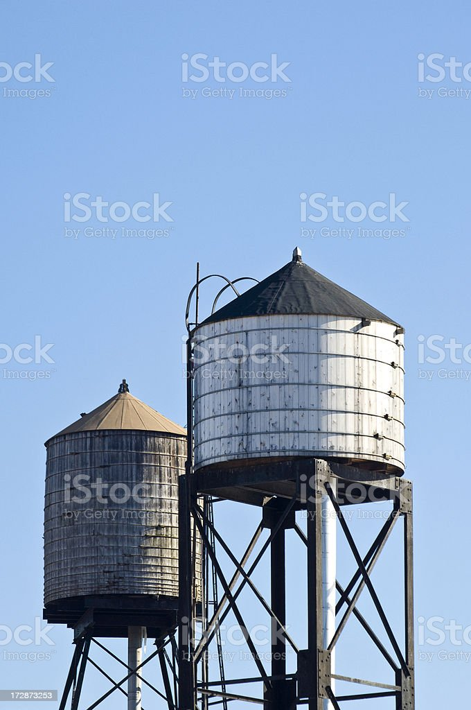 Bronx Water Towers royalty-free stock photo