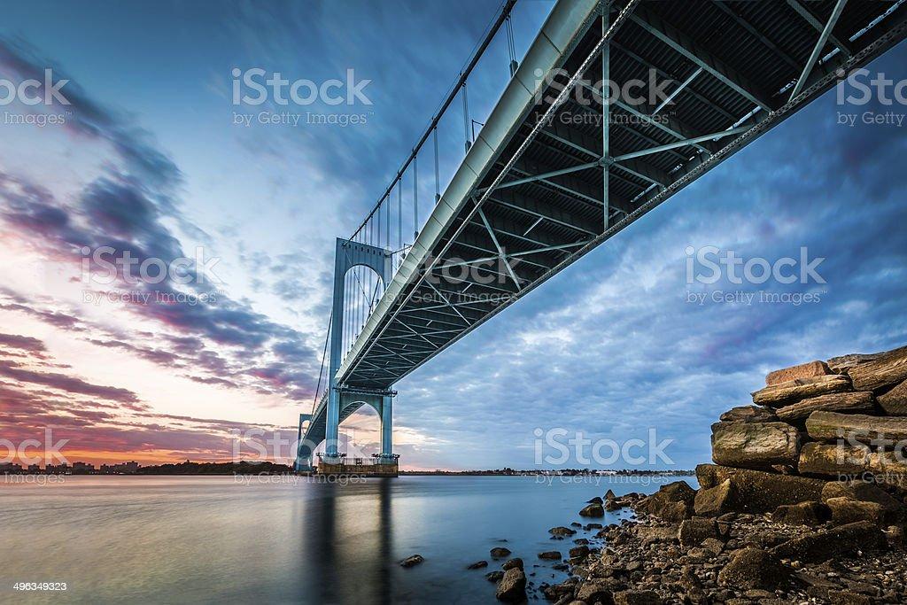 Bronx Whitestone Bridge stock photo