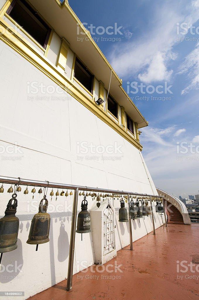 Bronze bells in Golden mount, Bangkok, Thailand royalty-free stock photo