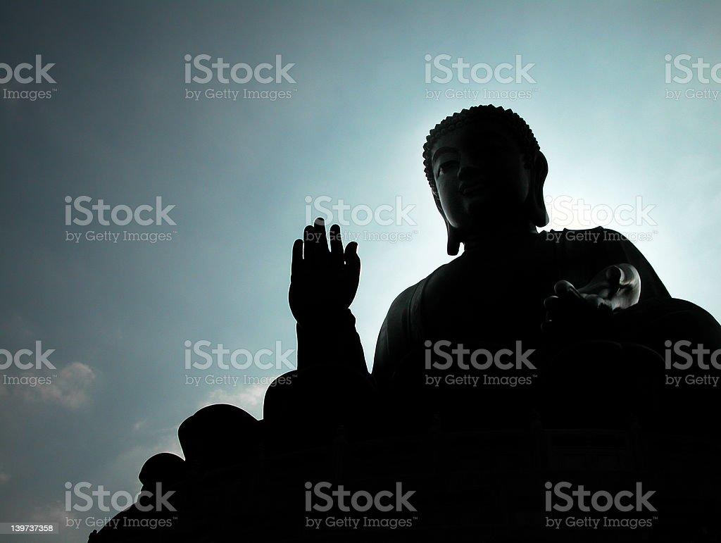 Bronze Buddha stock photo
