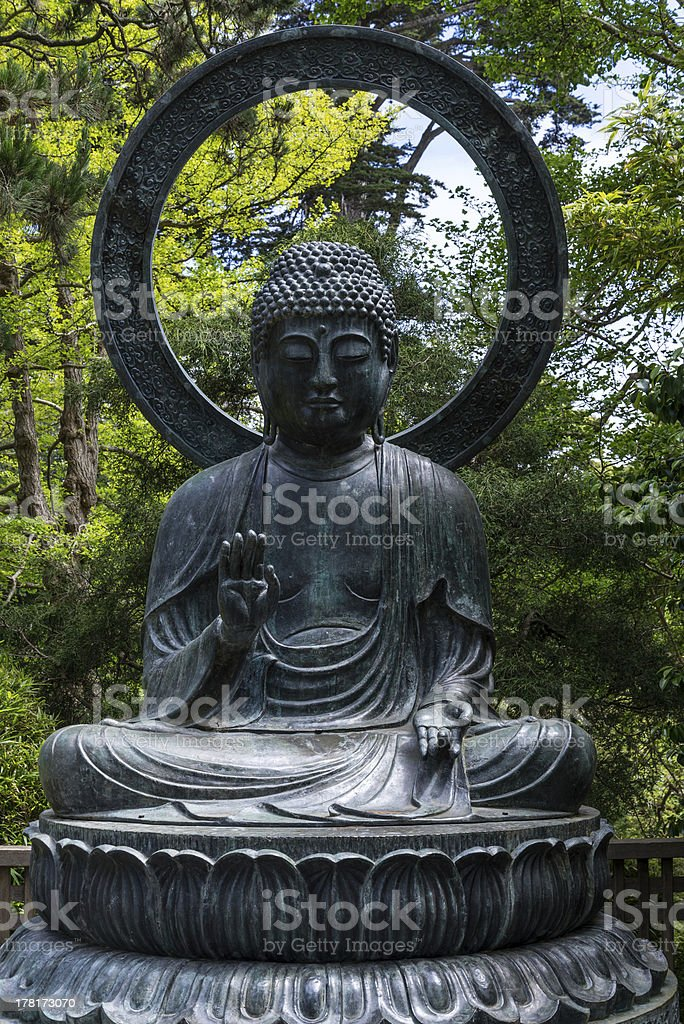 bronze buddha royalty-free stock photo