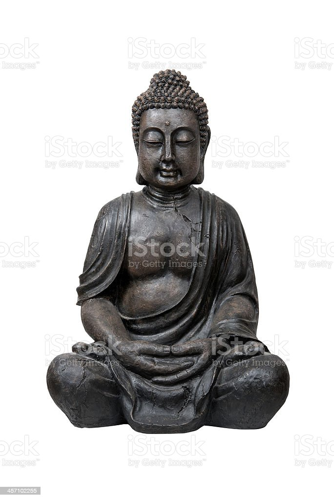 Bronze buddha statue stock photo
