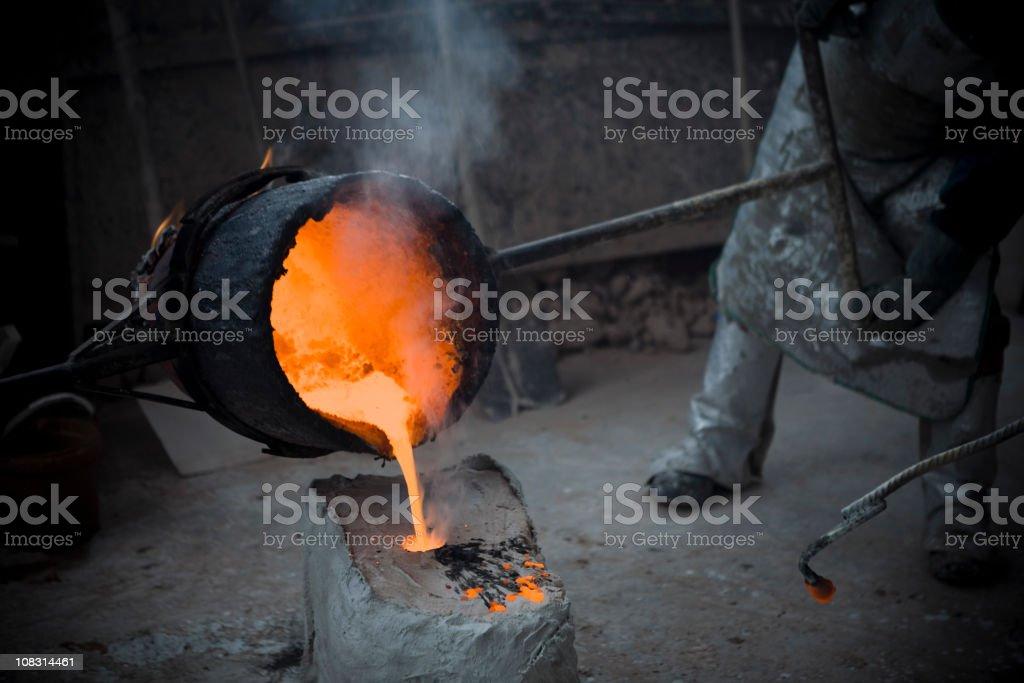 Bronze Casting. Italy royalty-free stock photo