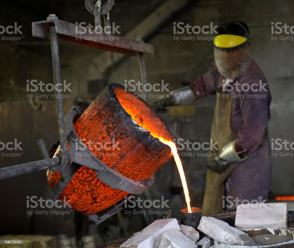Bronce Casting. stock photo