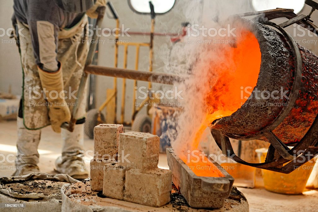Bronze Casting royalty-free stock photo