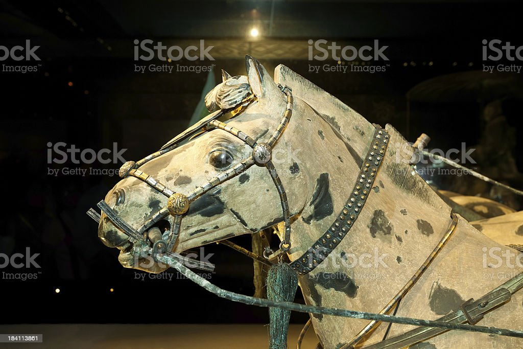 Bronze chariots and horses - Terracotta Army in Xi'an, China stock photo