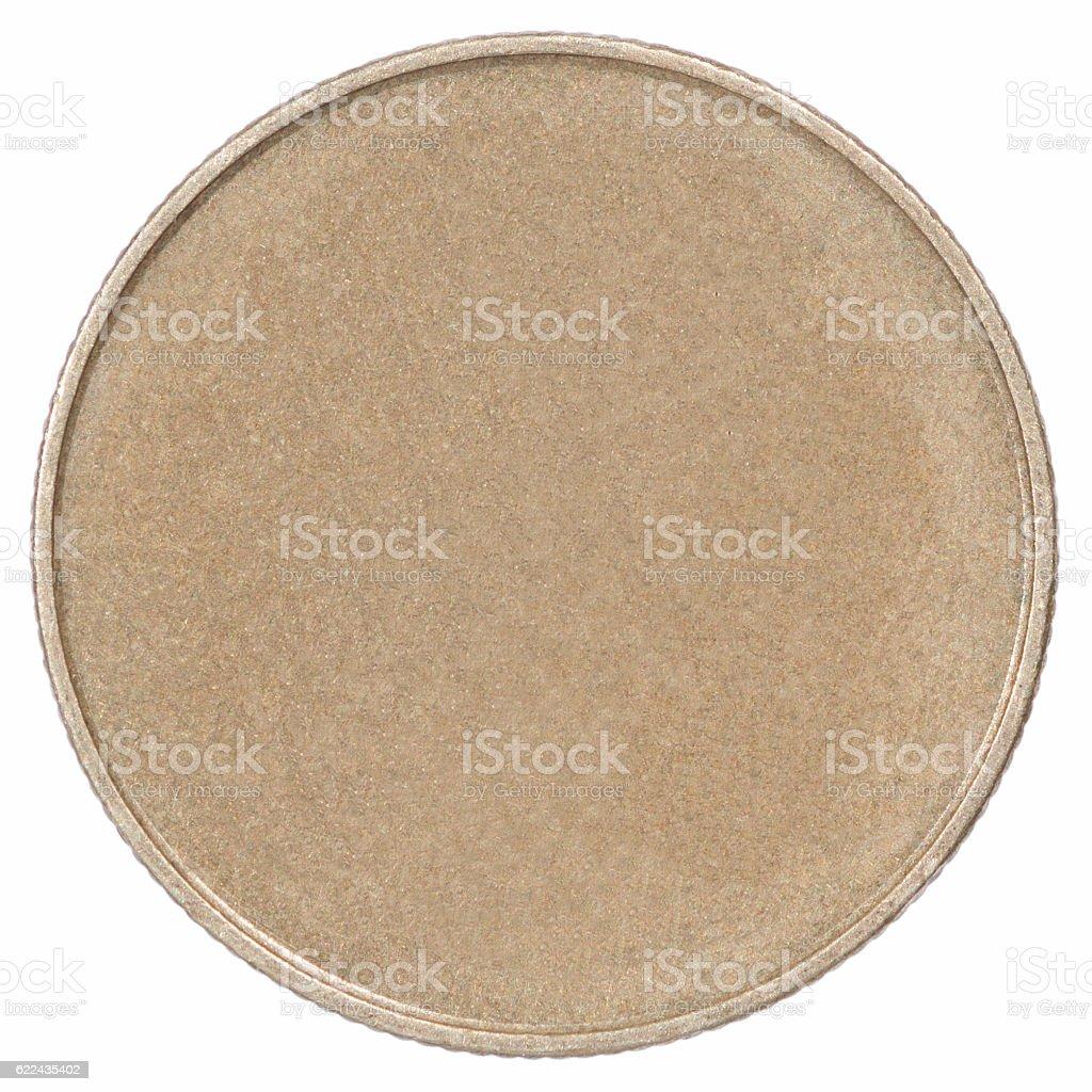 Bronze coin stock photo