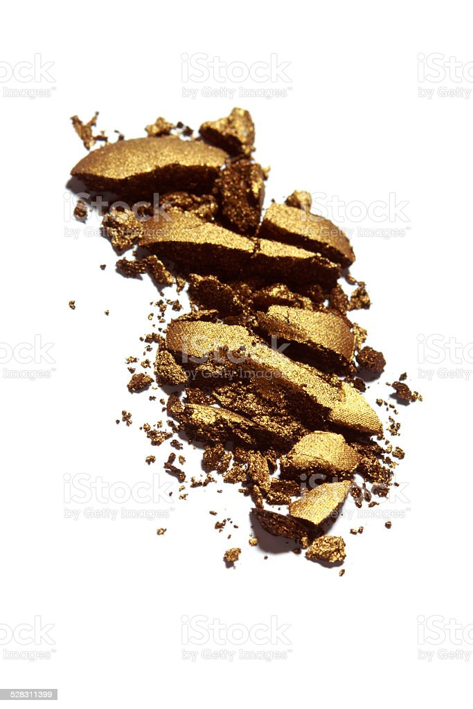 Bronze Color Eyeshadow stock photo