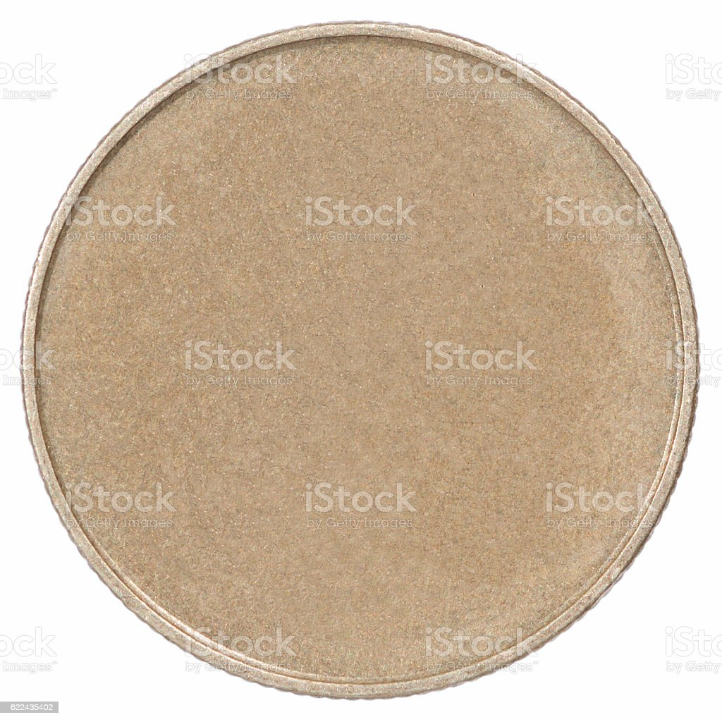 Bronze coin stock photo