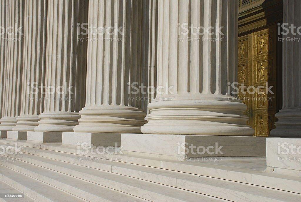 Bronze Door at US Supreme Court royalty-free stock photo