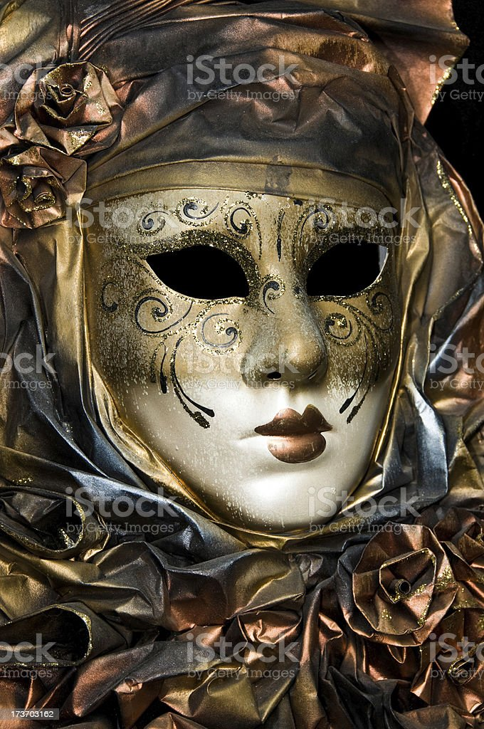 Bronze Face stock photo