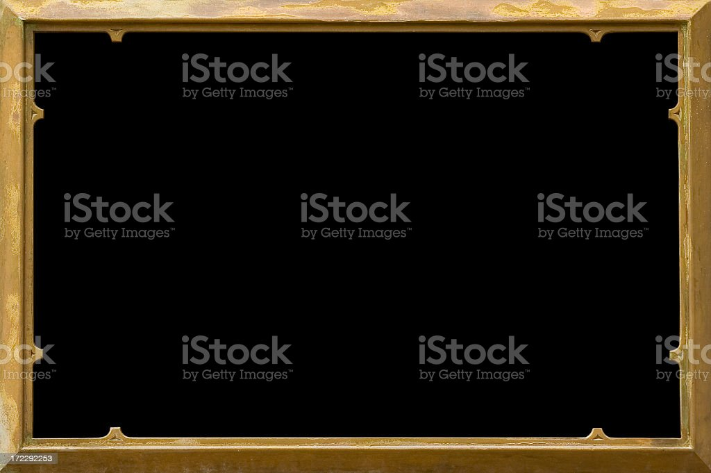 Bronze frame royalty-free stock photo
