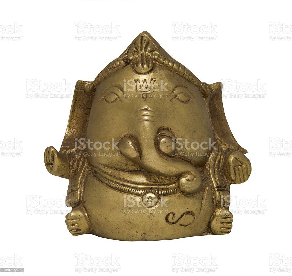Bronze Ganesh statue isolated on white royalty-free stock photo