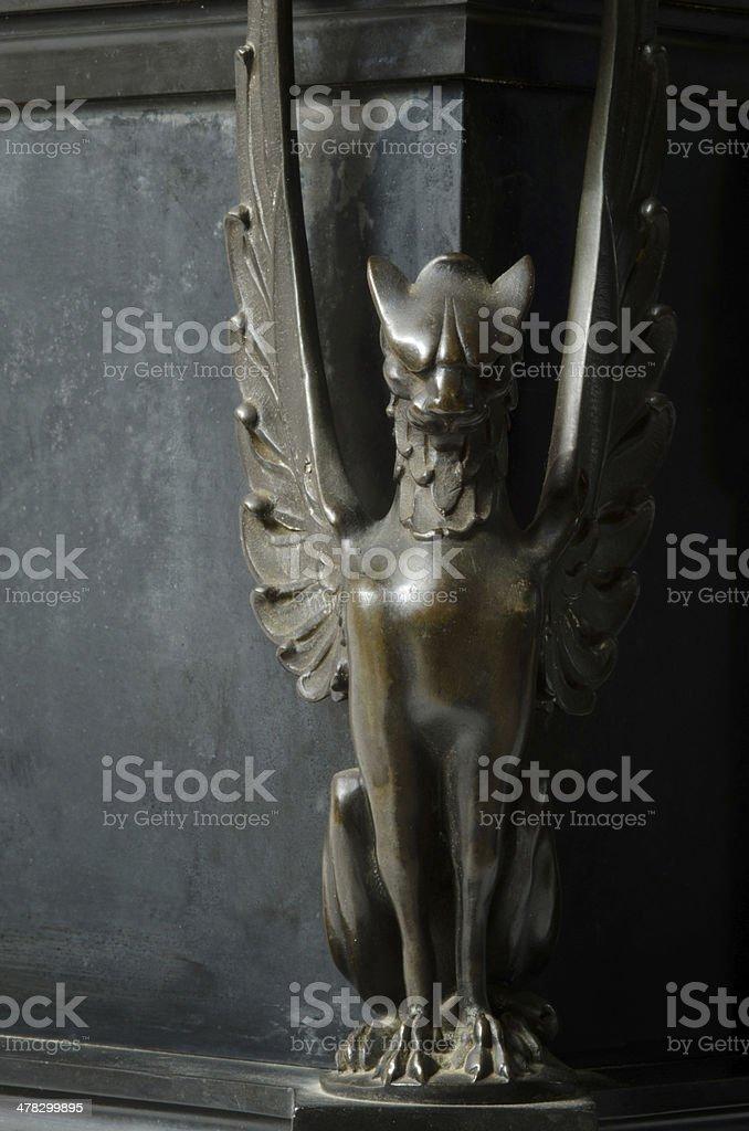 Bronze Gargoyle with Wings royalty-free stock photo