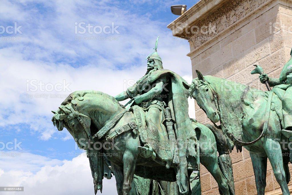 Bronze Horsemen stock photo