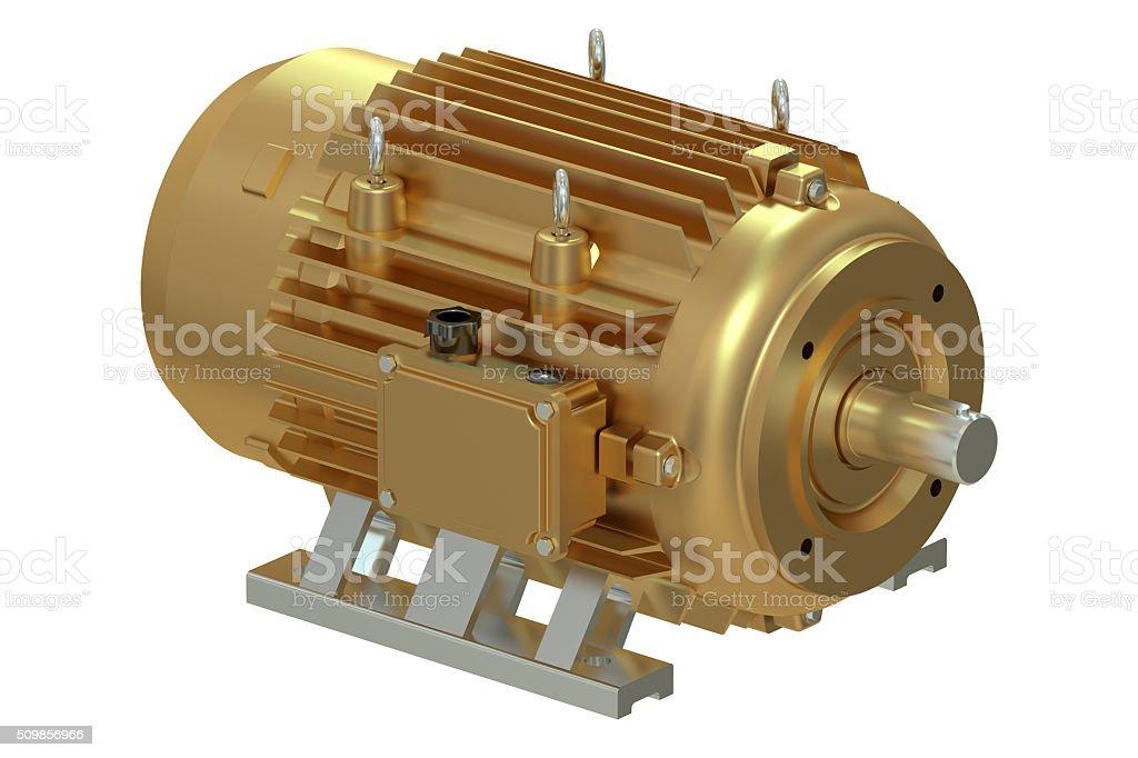 Bronze industrial electric motor stock photo