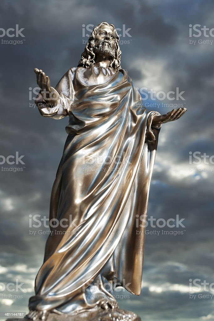 Bronze Jesus royalty-free stock photo